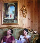 R. Regev and RRC Student Diana Miller listen to Sheikh
